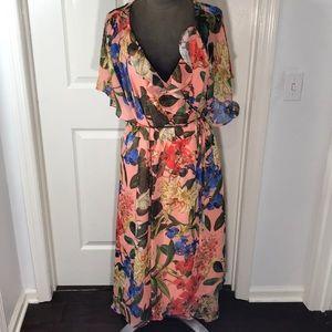 NWT Gibson Latimer Floral Hi-Lo Wrap Dress Size 2X
